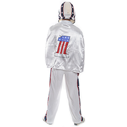 Back Facing White, Blue and Red Stuntman Costume