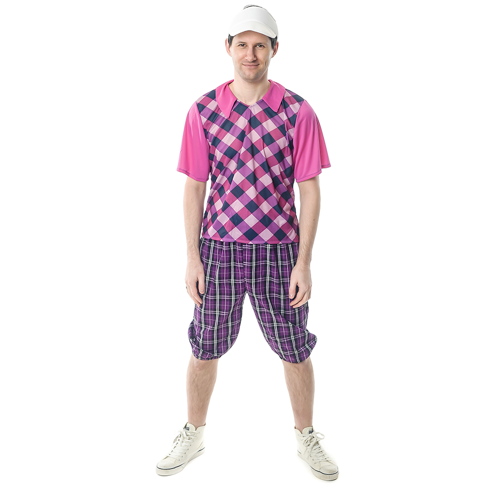 Front Facing Chequered Pub Golf Costume