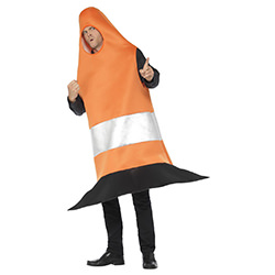 Side View Of Traffic Cone Costume
