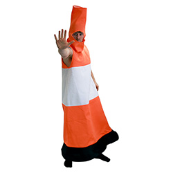 Traffic Cone Costume Expressing Stop