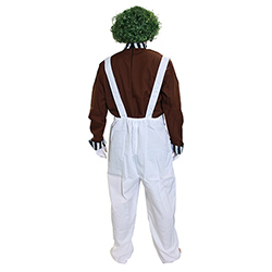 Back Of Oompa Loompa Factory Worker Outfit