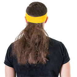A view of the back of the mullet