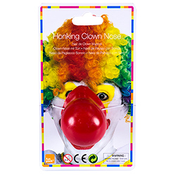 Bright Red Noisy Clown Nose Packaging