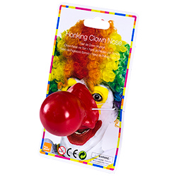 Bright Red Noisy Clown Nose On White Background