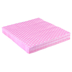 Tower Of Pink Napkins with Spots Light Pink
