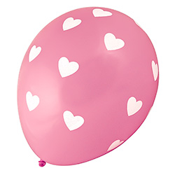 Pink and White Hearts Balloons