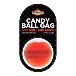 The candy ball gag in its packaging.