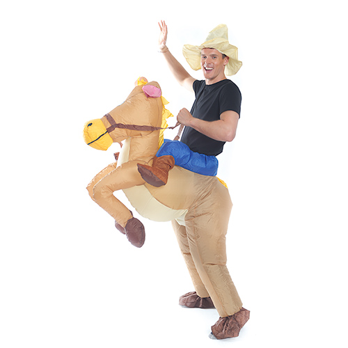 Inflatable Cowboy Costume Side View