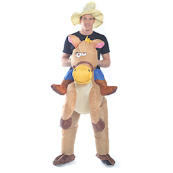 Inflatable Cowboy Costume Front View
