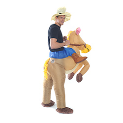 Inflatable Cowboy Costume Rear View