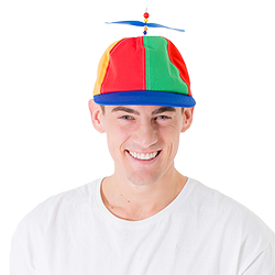 A model wearing the hat