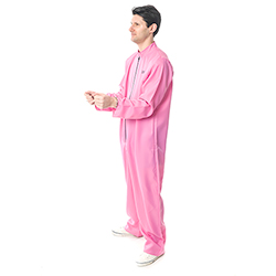Side Facing Pink Prisoner Costume