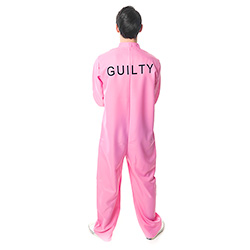 Back Facing Pink Prisoner Costume