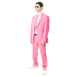 Side Facing Bright Pink Suit