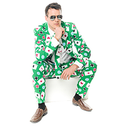 Poker themed suit