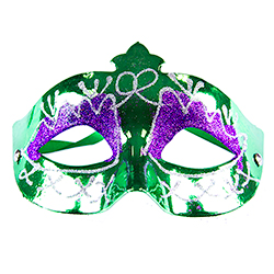 Model Wearing Assorted Masquerade Masks