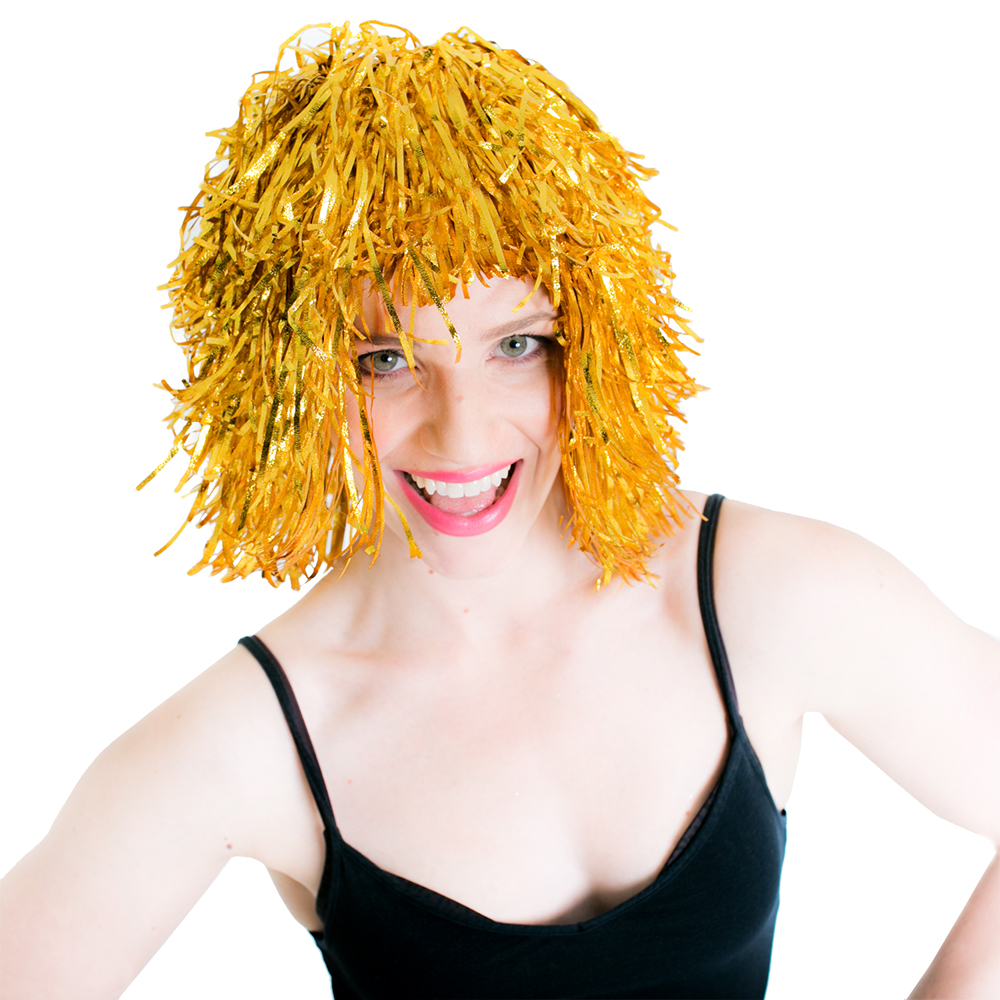 Gold Tinsel Wig