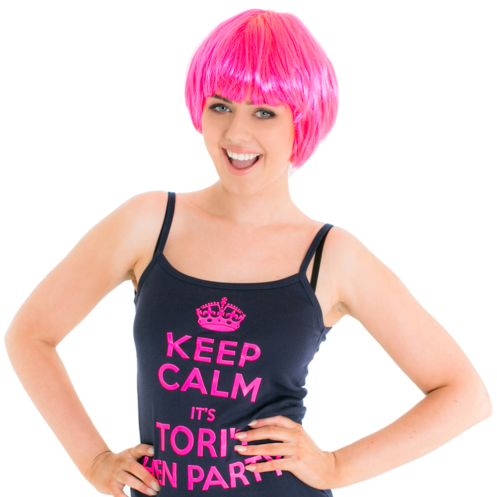 Next Day Delivery Pink Wig 15
