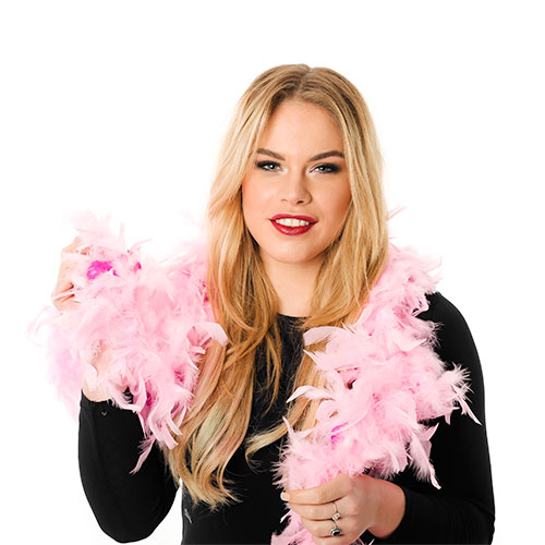 Model Wearing Pink Willy Boa