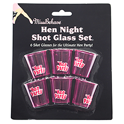 Pack of Six Shotglasses In Packaging