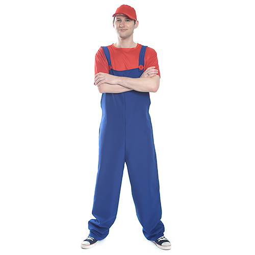 Front Facing Red and Blue Mario Costume