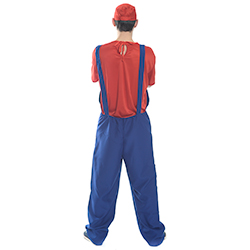 Back View Red and Blue Mario Costume