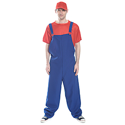 Front View Red and Blue Mario Costume