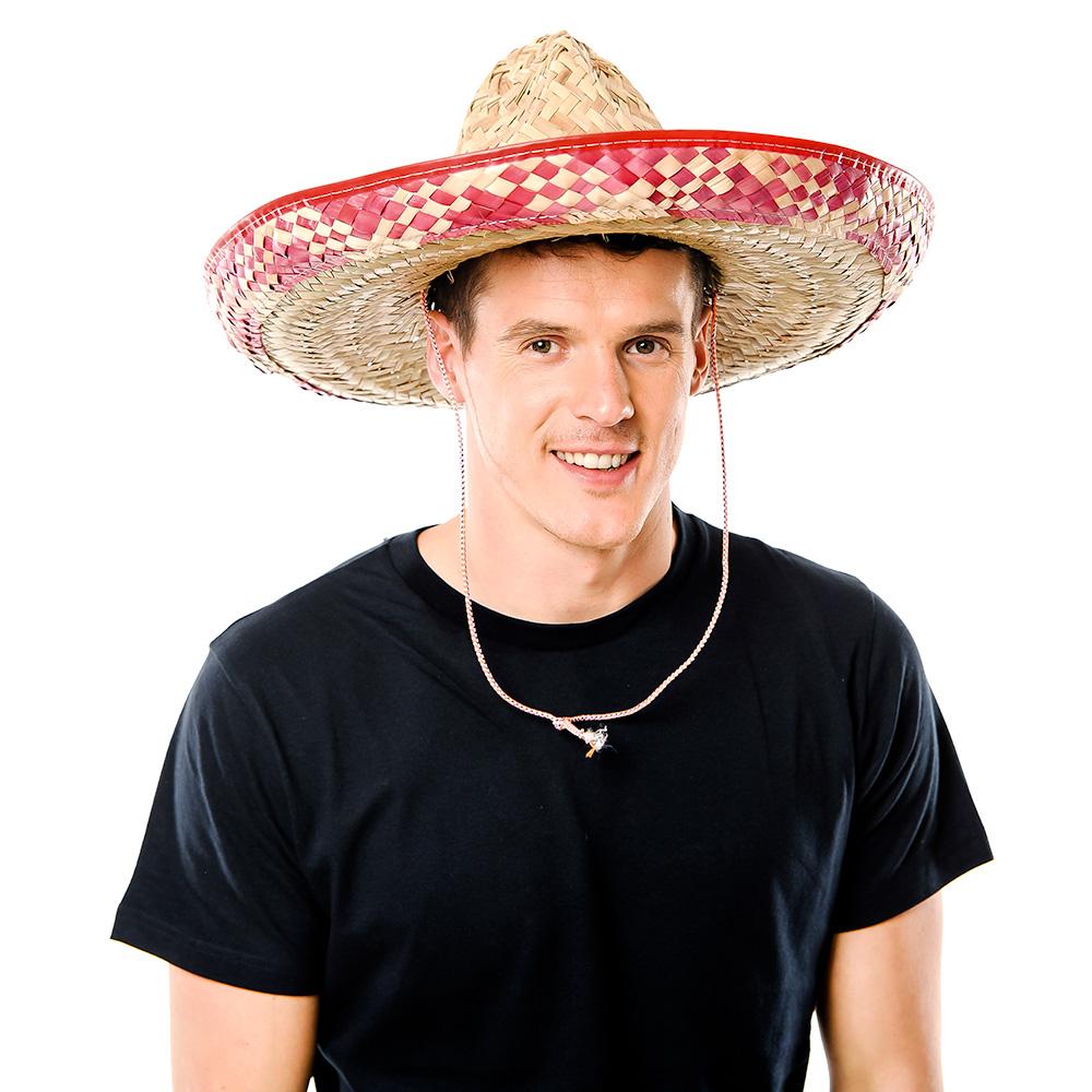 Model Wearing Mexican Sombrero