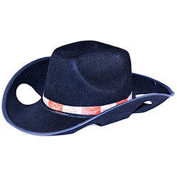 Cowboy Themed Drink Holding Hat