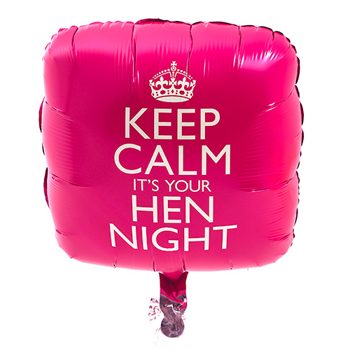 Keep Calm It's Your Hen Night Balloon
