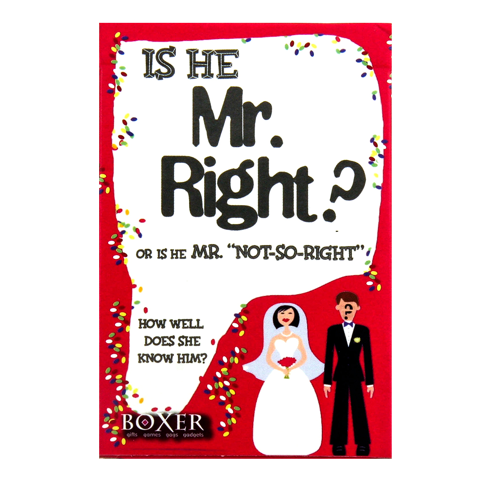 Is He Mr Right Card Game Packet
