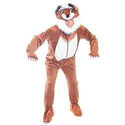 Fox Costume crouched