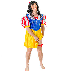 Male Model Wearing Fairyland Drag Costume On White Background