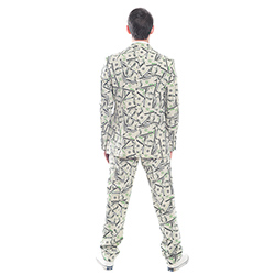 Dollar patterned suit back