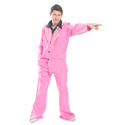 Pointing Pink Disco King
