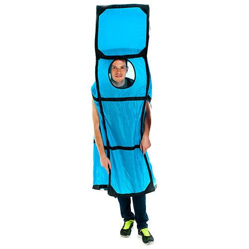 Blue Tetris Piece costume