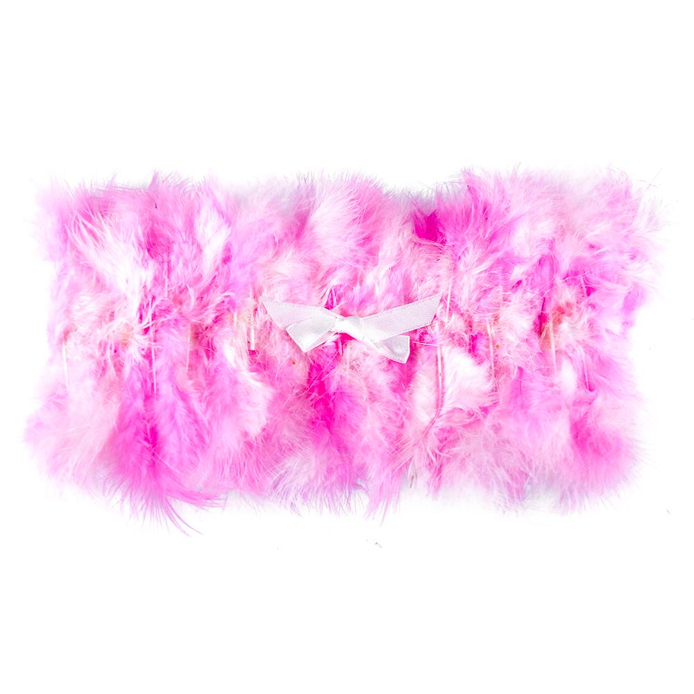 Pink Feather Garter