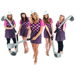 A group of female golfers