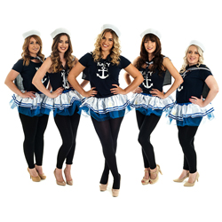 A group of sailor girls wearing the hat