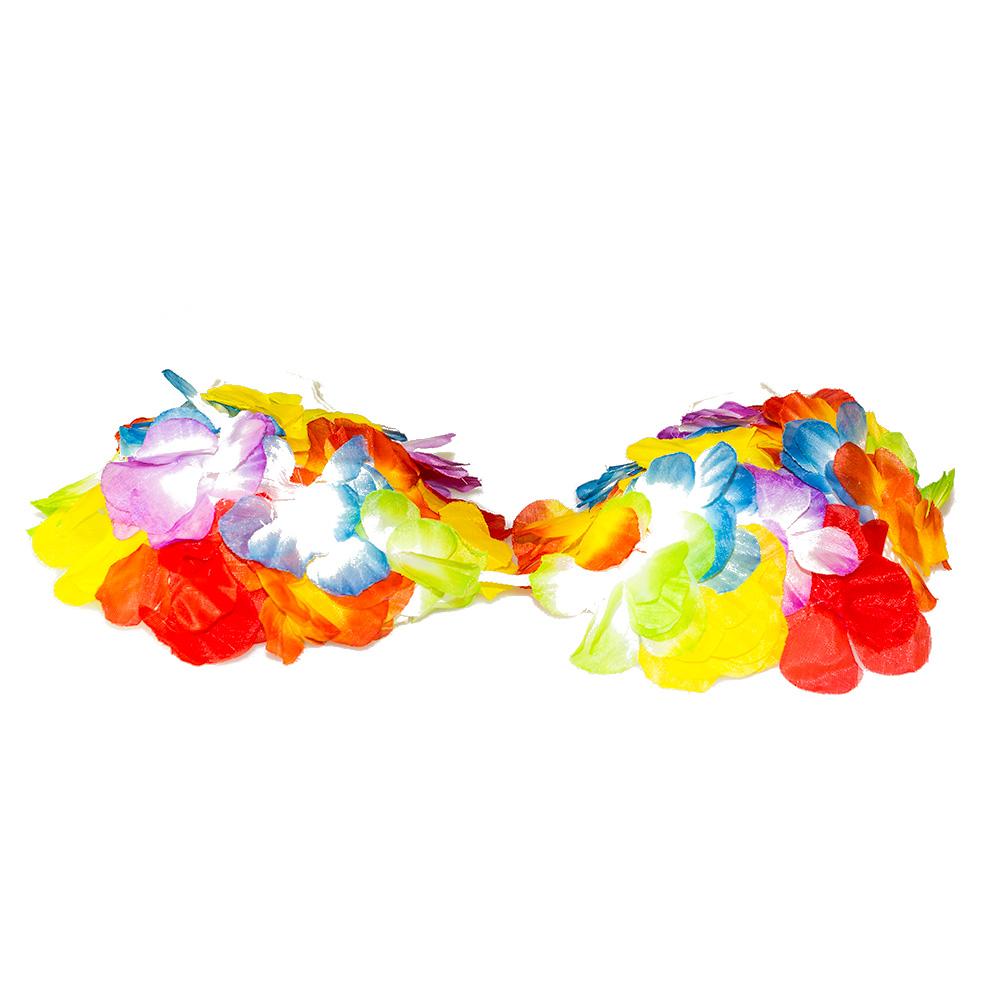Flowery hula girl bra