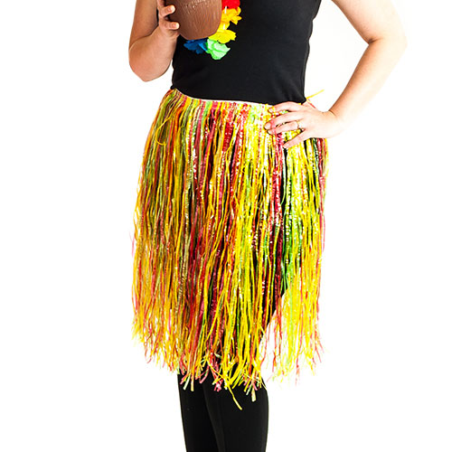 Multi-coloured hula skirt