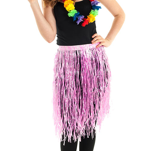 Pink Hawaiian Hula skirt