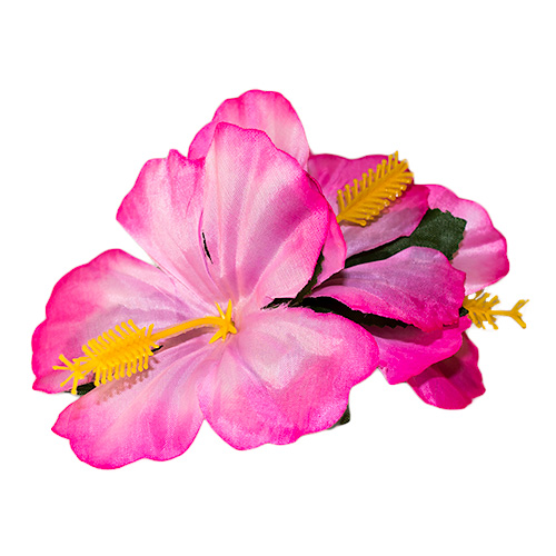 Flower hair clip - pink