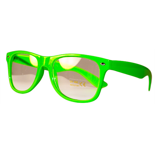 Side View Of Neon Green Glasses