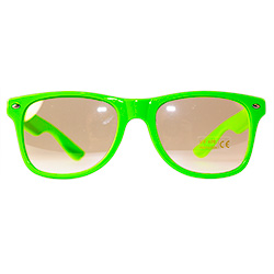 Front Of Neon Glasses Green