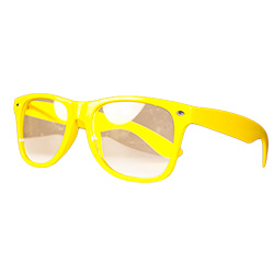 Front Of Neon Yellow Glasses