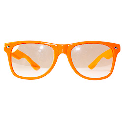 Front Of Neon Orange Glasses