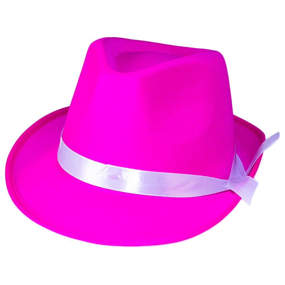 Pink Neon Gangster Hat