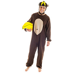 Man in monkey costume.