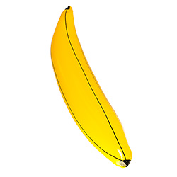 Inflatable Banana On White Background